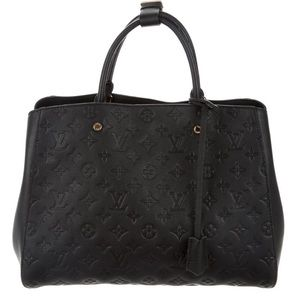 Louis Vuitton Empreinte Montaigne Black AUTHENTIC